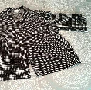 CJ Banks pokadot jacket size 2X